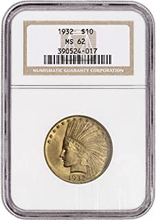 US Gold $10 Indian Head Eagle PCGS MS62 Random Date