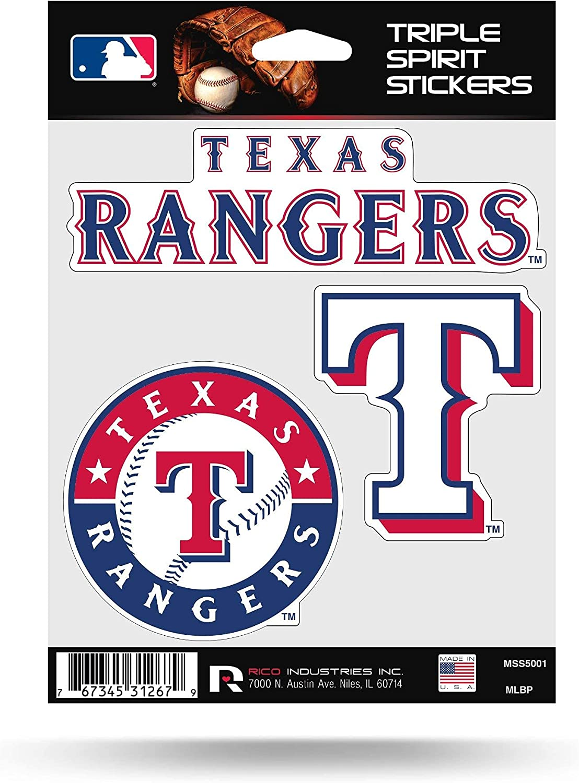 Rico 5 ☆ very popular MLB Rangers half - Tx Triple One Spirit Size Multi Stickers M