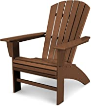 POLYWOOD Nautical Adirondack Chair, Teak