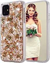 iPhone Xs Max Case, Inkomo Women Luxury Fashion Glitter Shells Foil Sparkle Hard Back Cover with Clear TPU Bumper Protective Phone Bling Case for Apple iPhone Xs Max 6.5 inch (Rose Gold)