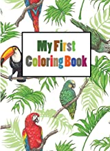 My First Coloring Book: Paint by Sticker Kids Zoo Animals