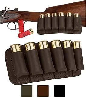 BronzeDog Shell Holder Shotgun Ammo Pouch 12 16 Gauge Genuine Leather Bullet Wallet Cartridge Bag Ammunition Carrier Hunting Accessories