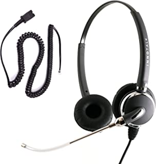 Cisco 7960 7961 7962 7965 7970 7971 7975 7985 Phone Headset - Voice Tube Pro Binaural Headset with Cisco Headset Adapter for Call Center