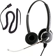 InnoTalk Headset for Cisco 7821, 7841, 7861 7931G - Quick Disconnect Voice Tube Pro Binaural Headset + RJ9 Headset Adapter as Office Headset