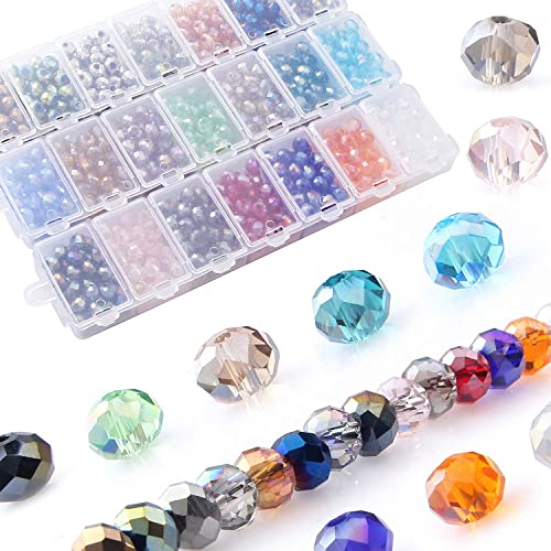 30pcs assorted crystal glass oval beads 9mm for jewel making
