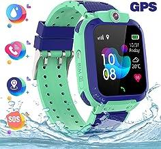 HAN-GANG Reloj GPS Niños,Reloj Inteligente Localizador