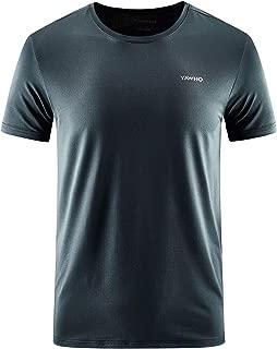 MeetHoo Sportshirt Herren,Laufshirt Kurzarm Funktionsshirt Atmungsaktiv Schnelltrocknendes T Shirt Trainingsshirt Running Gym f/ür M/änner