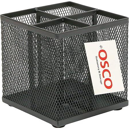 OSCO Wiremesh Square Pen Pot - Graphite