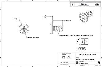 thread forming screw for plastic