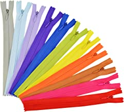 Jmkcoz 50pcs 7.8 Inch Sewing Zippers, Nylon Invisible Zippers Tailor Sewer Craft for Sewing Assorted Colors Tailor Sewing Tools Garment Accessories Crafter's Special