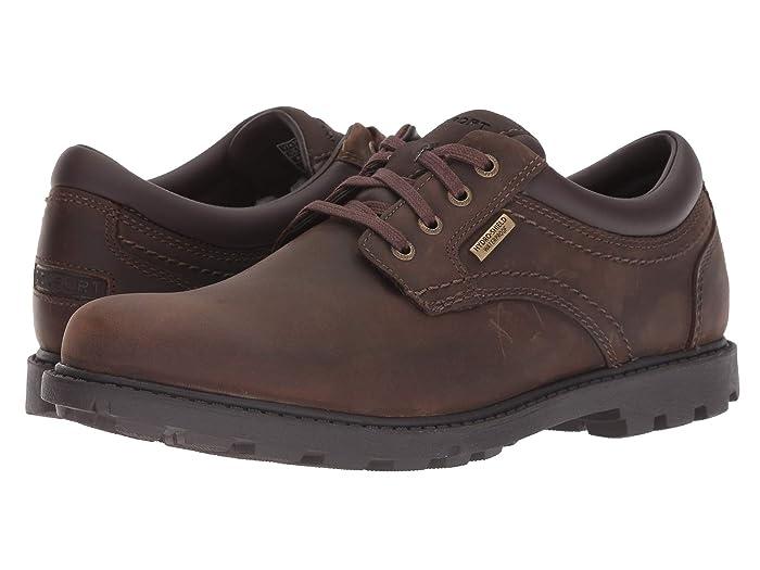 Rockport  Rugged Bucks Waterproof Plaintoe (Tan) Mens Shoes