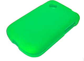 For LG Aspire Paylo 305C LN280 Hard Snap on Protector Phone Cover Case + Happy Face Phone Dust Plug (Neon Green)