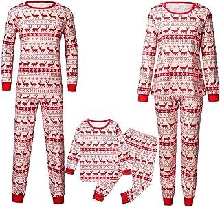 K-Youth Pijamas de Navidad Familia Ropa para Padres e Hijos 2 Piezas Conjuntos Bebe Niño Navidad Ropa Mujer Hombre Invierno Bebé Niña Ropa de Dormir Familiares Navideño
