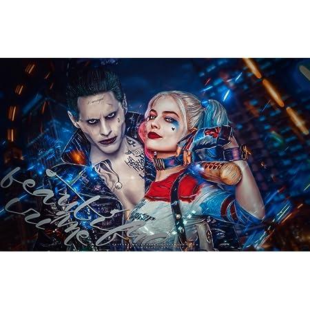 24x36 W007 Art Batman Harley Quinn Joker Superheroes Poster