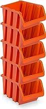 5pieza Visión Cajas de almacenamiento tamaño 6–rotbraun (39x 24x 18cm)