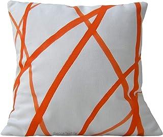 Cojín rayas naranja, nuevas ideas de decoración.BeccaTextile.