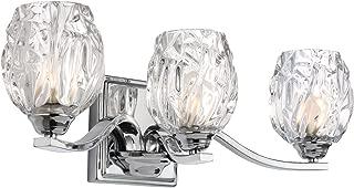 Feiss VS22703CH Three Kalli VS22703 3 Bathroom Vanity Light, Chrome
