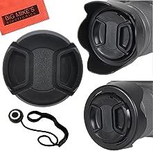 55mm and 58mm Reversible Tulip Flower Lens Hood and Lens Cap Kit for Nikon D5600, D3400, D3500 DSLR Camera with Nikon 18-55mm f/3.5-5.6G VR AF-P DX and Nikon 70-300mm f/4.5-6.3G ED