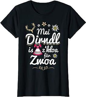 Mei Dirndl is z kloa für Zwoa Damen Mei Dirndl is z kloa für Zwoa Spruch lustig Schwangere Damen T-Shirt