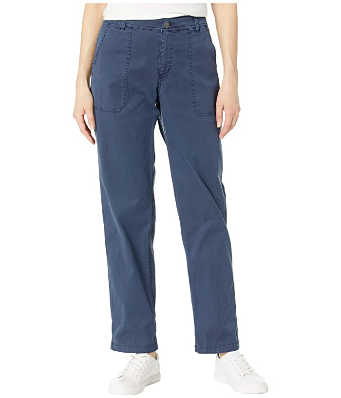 Chino Twill Pants (Mood Indigo) Women's Casual Pants