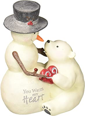 6 6 Pavilion Gift Company 81126 Let It Snow Snowman Figurine