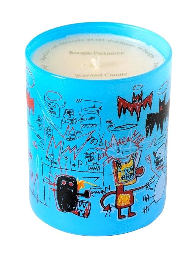 修正封建マークされたジャン ミシェル バスキア ブルー キャンドル(Jean-Michael Basquiat Perfumed Candle
