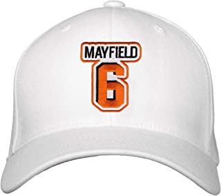 Baker Mayfield Hat - Cleveland Football Adjustable Cap (White)