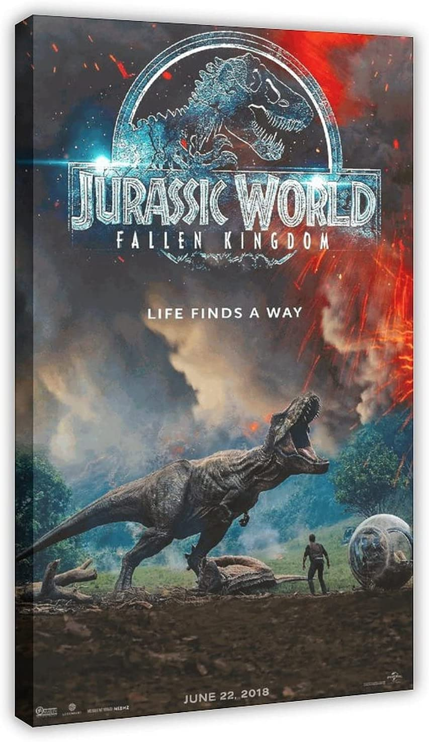 Jurassic Park latest Retro Movie Max 48% OFF Poster Wall Decor Art 23 Canvas