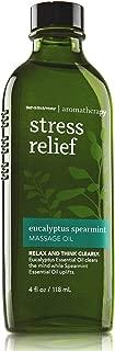 Bath & Body Works Aromatherapy Stress Relief Eucalyptus Spearmint Massage Oil 4 Fl Oz (Retired Model) Discontinued