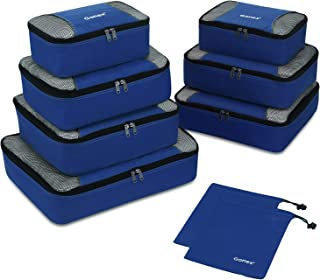 Gonex Rip-Stop Nylon Travel Organizers Packing Bags Deep Blue