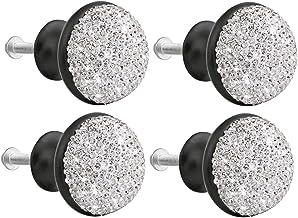 Hardware 4 stks Aluminium Deurknoppen Shining Rhinestone Paddestoel Ontwerp Trek Handvat Creatieve Lade Knoppen Kast Deur ...