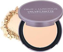 True + Luscious Velvet Matte Oil-Control Face Powder Compact - Vegan, Cruelty Free, Paraben Free. Multi-use Powder Foundat...