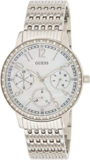 Guess Lattice Women's Silver Dial Stainless Steel Band Watch - W1086L1