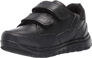GEOX J Xunday B B Boys Leather Trainers/Shoes - Black