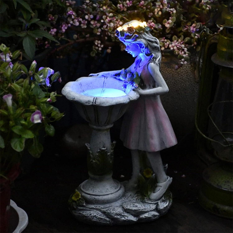 HAIFENGDA Flower Fairy Garden Statues Outdoor, Solar Charming Flower Fairy Garden Gnomes, Garden Decor for Outside Garden Sculptures & Statues, in The Dark Yard Glow Garden Statue Light.-Samll