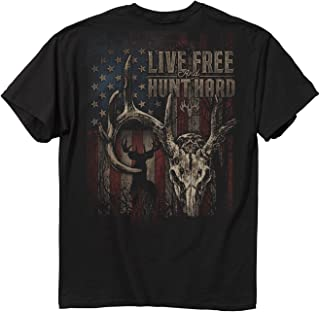 Buck Wear Men's Live Free Buck Short-Sleeve Tee