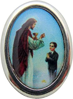 Boys First Holy Communion Silver Tone Metal Lapel Pin