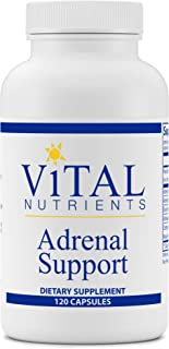 Vital Nutrients - Adrenal Support - Suitable for Men and Women - Supports Adrenal Gland Function, Supports Mild Stress and Anxiety, and Promotes a Healthy Immune System - 120 Capsules per Bottle