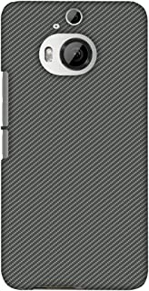 AMZER Slim Fit Handcrafted Designer Printed Hard Shell Case Back Cover for HTC One M9 Plus - Neutral Grey Texture
