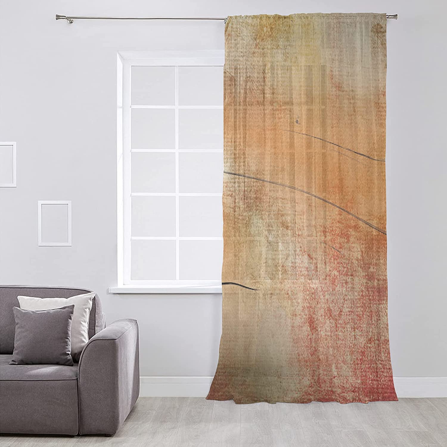 Semi Product Sheer Voile Window Curtain Long Inches Sale SALE% OFF Panel 52x84 Elegant