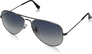 Ray Ban Unisex Sunglasses - 3025, 58, 004/78, Grey Lens, Aviator Frame