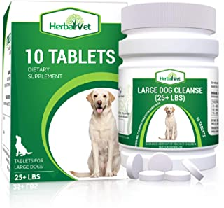 HerbalVet Natural Dog Dewormer Alternative for All Dogs | 10 Tablets, Works for Puppies, Intestine Cleanse| Helpful E-Book Included