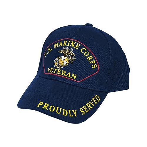 b7255bf879b U.S. Marines Corp. Veteran Cap Navy