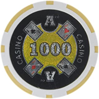Brybelly Ace Casino Poker Chip Heavyweight 14-gram Clay Composite – Pack of 50