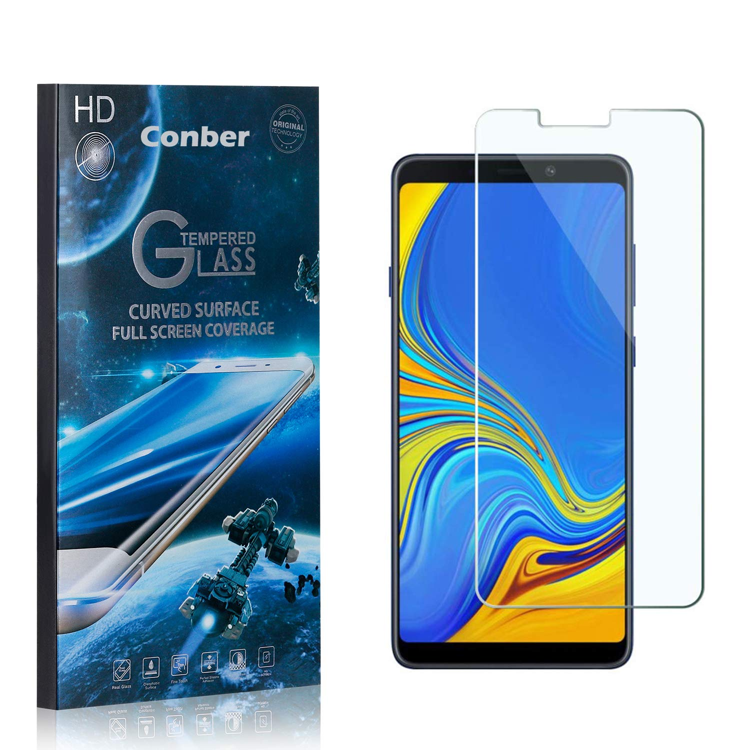 Conber 4 Sale price Pack Screen Protector for Sc Samsung A9 2018 Industry No. 1 Galaxy