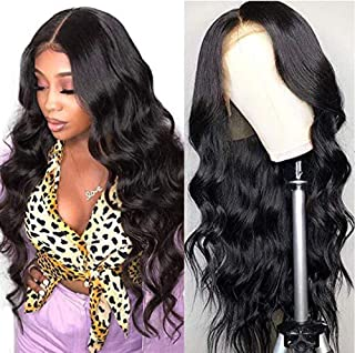 20 inch Lace Front Wigs Pre Plucked with Baby Hair Brazilian Body Wave Human Hair Wigs Unprocessed Brazilian Human Hair Wigs 130% Density Natural Hairline 13X4 Lace Front Wig for Black Women