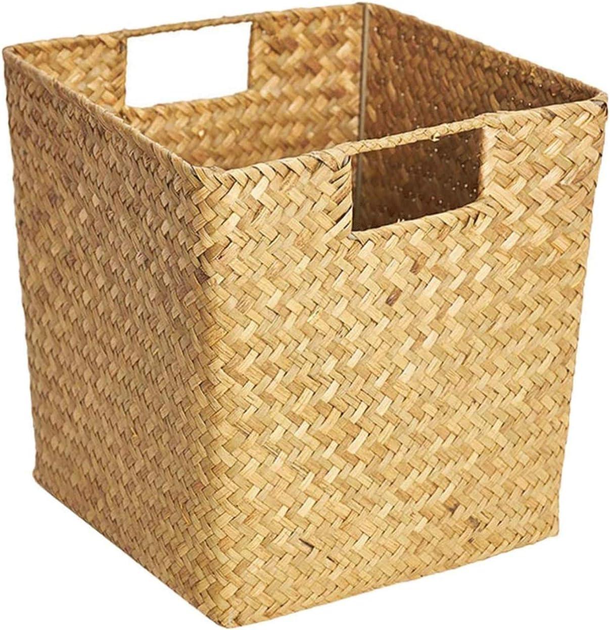 ZLHW Basket Seagrass Wicker Rattan Storage Picnic Box Now favorite on sale Bas