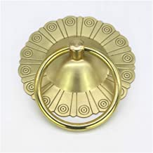 Voordeur Knocker Archaize Stijl Puur Koperen Ring Knocker Brons Deurhandvat Trek Antieke Decoratieve Deurklopper (Kleur: G...