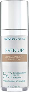Colorescience Even Up Clinical Pigment Perfector, Water Resistant, Mineral Facial Sunscreen & Primer, Broad Spectrum 50 SPF UV Skin Protection, 1 Fl Oz