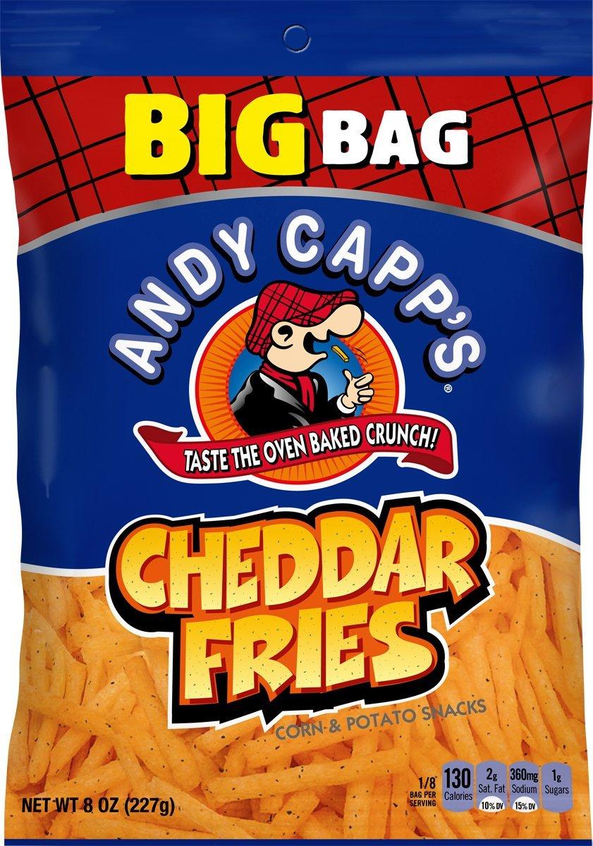 Andy Alternative dealer Capp's Big Bag Cheddar Pack Fries Superior Flavored oz 8